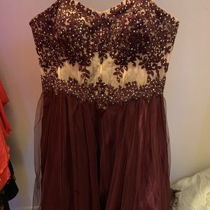 Size 20 prom dress with adjustable corset back